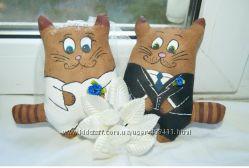 Кофейные коты жених и невеста