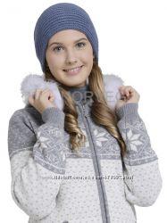 Шапка подростковая с поперечной резинкой, цвет серый