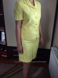 Костюм лен, желтый размер 10, новый