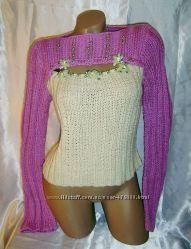 Яркий сексуальный джемпер из натуральных нитей.