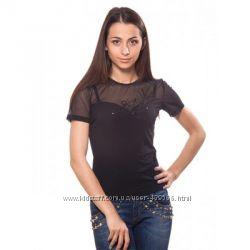 Женская кофточка без рукавов, летняя футболка. Украина.