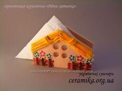 Салфетница Хата, сувенир для кухни, подарок