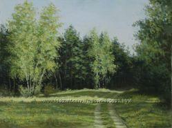 Лес, холст картина маслом