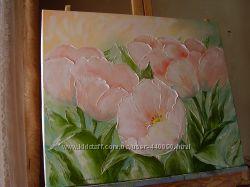 Картина маслом Тюльпани 50х60