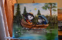 Картинам аслом Веселі котики 50х60