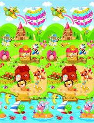 Двухсторонний теплый игровой коврик BabyPol Беби пол