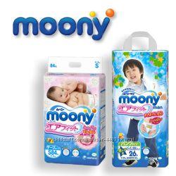 Японские подгузники, трусики Moony муни
