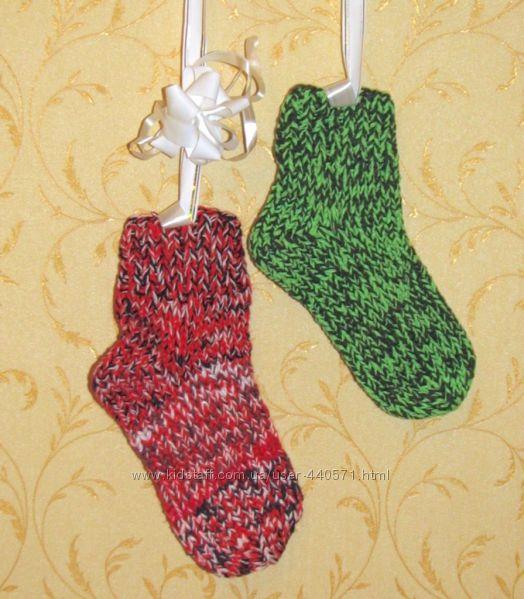 Вязаные носки детские 22-24 см по стопе на 8-12 лет