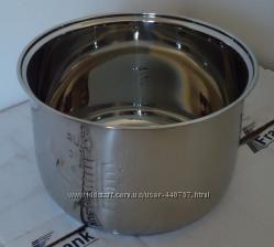 Чаша для мультиварки из нержавеющей стали с утолщенным дном.