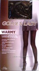 Tёплые, плотные, итальянские, колготки с хлопком GOLDEN LADY  WARMY.