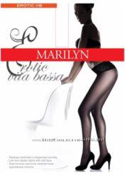 Заниженные колготки с кружевным поясом. Marilyn Erotic vita bassa.