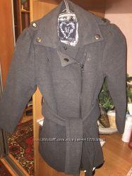 Крутое Пальто серая классика