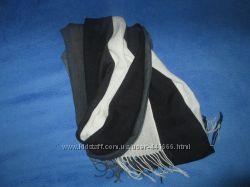 Теплый трехцветный шарф