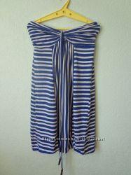 полосатое летнее платье DENIM