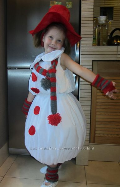 Костюм снеговика своими руками для девочки фото 134