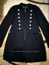 Пальто ZARA милитари размер XL деми демисезонное состояние нового