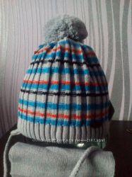 комплект шапка на флисе и шарф