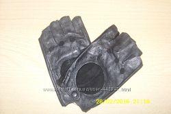 Новые кожаные женские перчатки без пальцев, черные