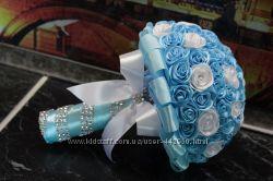 Бирюзовый свадебный букет