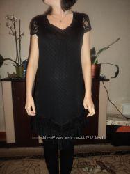 Платье тонкая вязка, свободного кроя, французский каталог