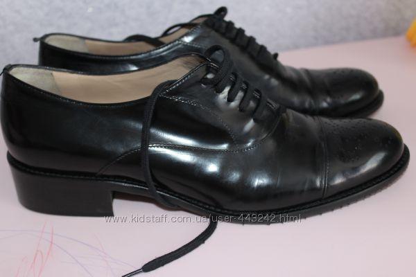 Кожаные туфли, Италия, на стопу 25-25, 5см