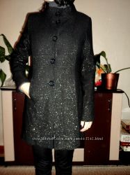 Пальто на теплую осень-весну, с люрексовой нитью