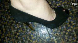 Туфли натуральний верх замш внутри кожа