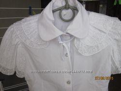 нарядная школьная рубашка дев 7-9 лет рост до 145 см