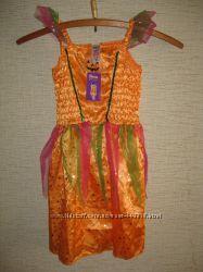 Новый карнавальный костюм Тыковка для девочки на 7-8 лет