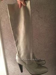 Хит сезона Серебристые кожаные сапожки Nando Muzi 40 p