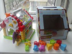 Музыкальная игрушка сортер пианино Веселый домик, много функций