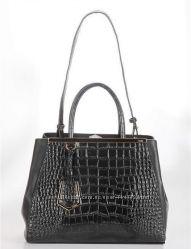 Новая кожаная сумка, модель Fendi 2Jours Elite