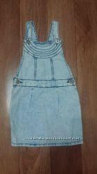 Джинсовый комбинезон-юбка для девочки