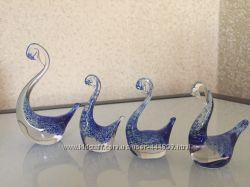 Стеклянные лебеди набор