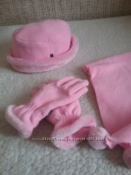 Шапка, шарфик, рукавички. Набор. 7-11 лет