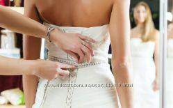 Подшивка свадебных платьев, ремонт одежды. Ателье. Киев, м. Лесная, ТЦ Маяк