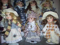 коллекционные фарфоровые куклы на выбор
