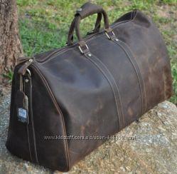 Большая дорожная сумка из лошадиной кожи с отделением для ноутбука, винтаж