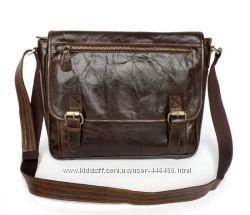 Мужская элитная кожаная сумка на плечо, мессенджер, ультравинтаж