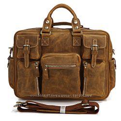 cba3551942a1 Эксклюзивная большая мужская кожаная сумка, винтажная лошадиная кожа ...