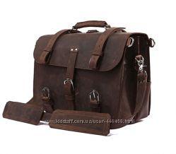 Винтажная мужская сумка-трансформер для гурмана, натуральная лошадиная кожа