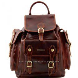 Хит продаж Большой модный кожаный рюкзак Pechino от Tuscany Leather