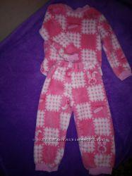 Флисовая пижама на девочку рост 76-82 см