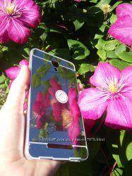 Металлический бампер с акриловым зеркалом для Xiaomi Redmi Note 2плен
