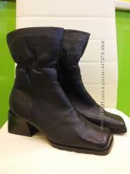 Женские новые кожаные ботинки р. 37 кожа и мех натуральные