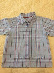 Продам рубашку с кор. рукавом для мальчика бу на рост 97 см.