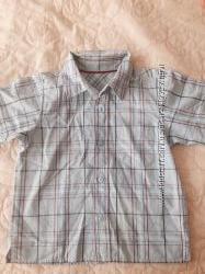 Продам рубашку с кор. рукавом MARKS SPENCER для мальчика бу на рост 97 см