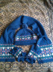 Комплект зимний, шапка шарф перчатки