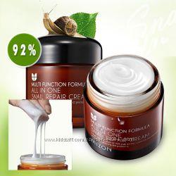 Хит крем с экстрактом улитки MIZON - All in one snail repair 35-75мл