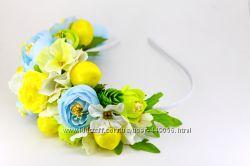 Ободки, обручи с цветами и ягодами